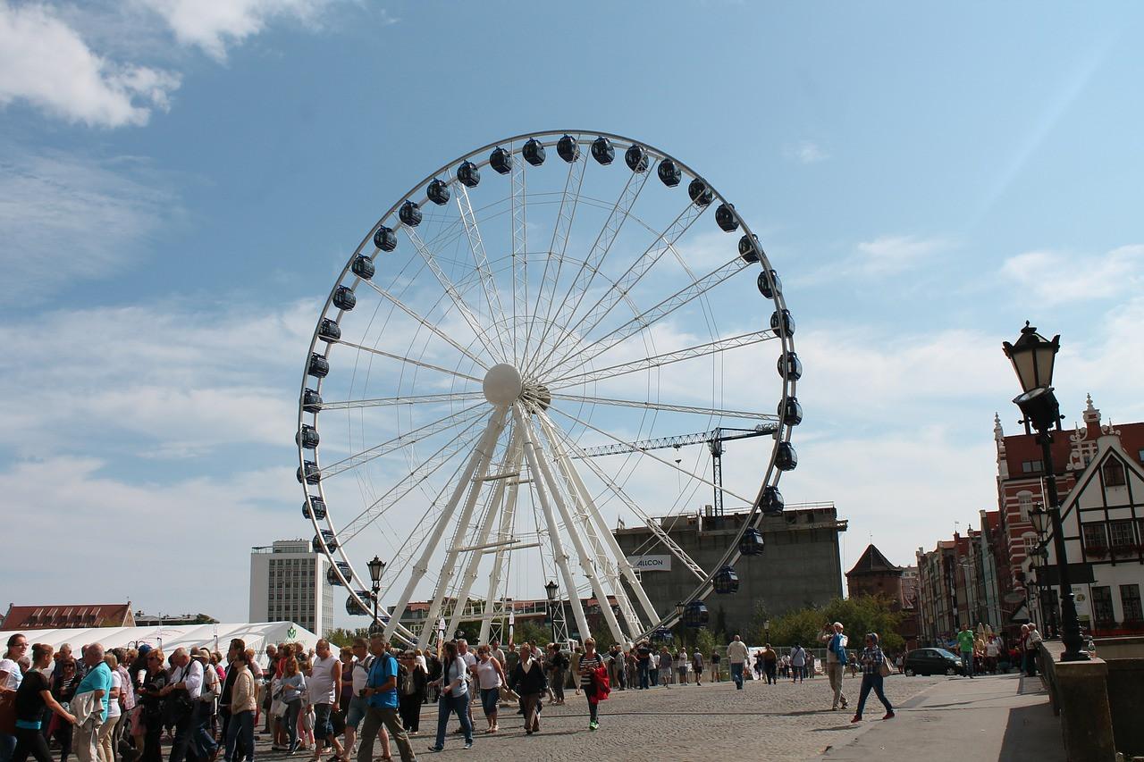 Das Riesenrad in Danzig