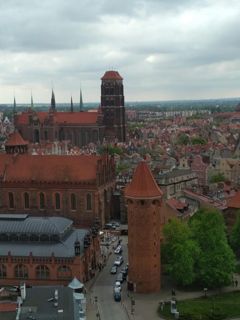 Das Panorama aus der St.Katharinen Kirche - die Alte Stadt Danzig