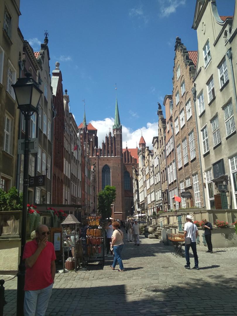 Die Marien Straße in Danzig