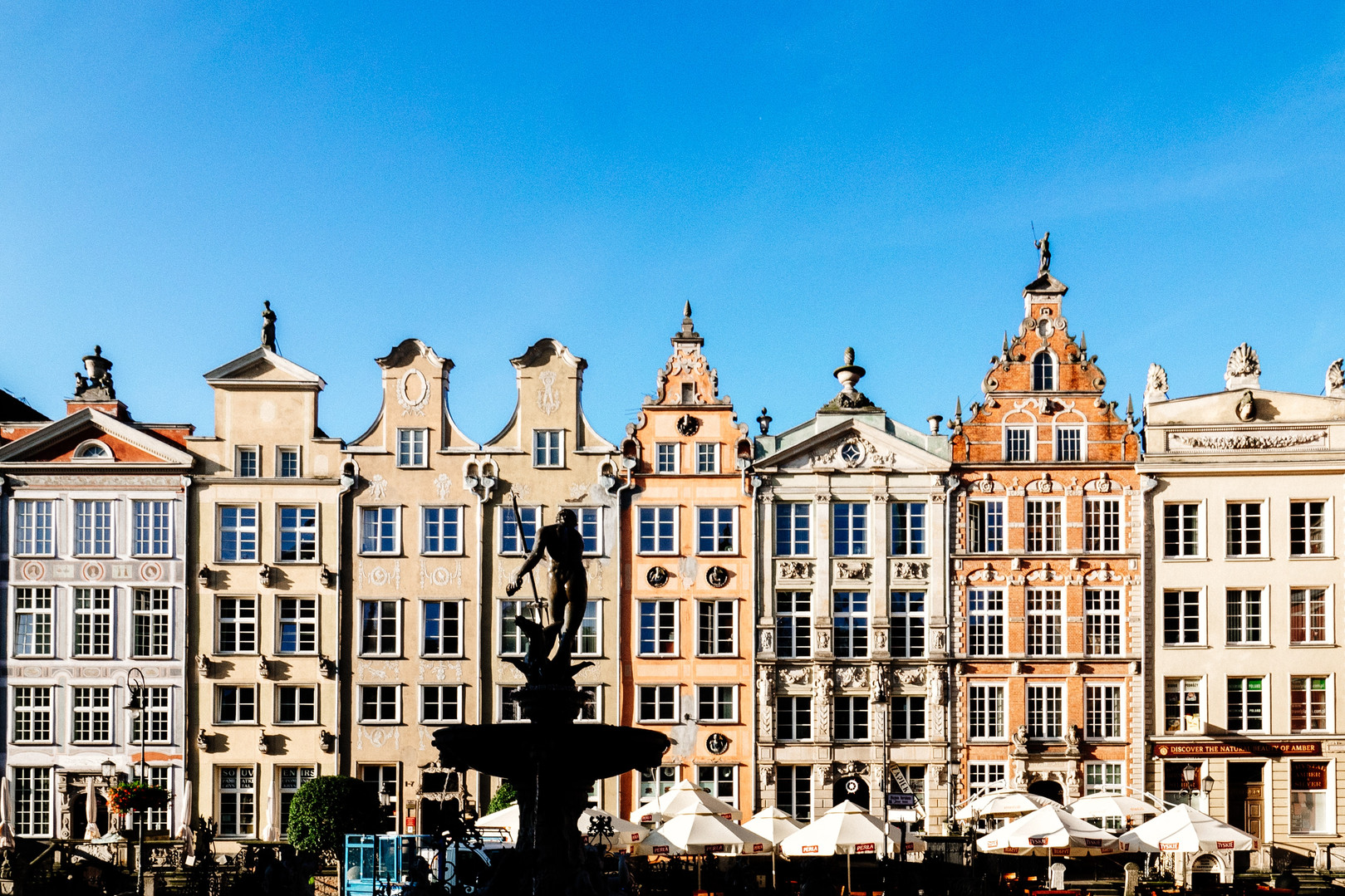 The tenements at the Long Market in Gdańsk
