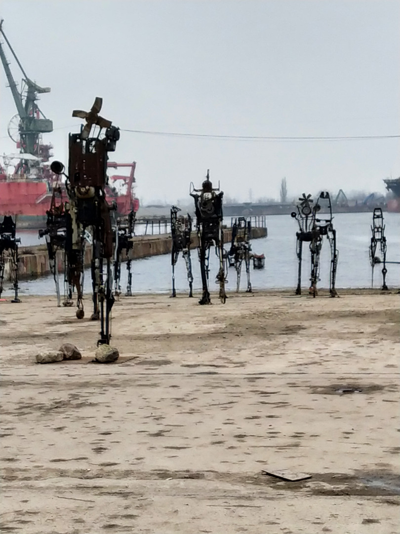 The modern art at the shipyard in Gdańsk