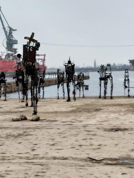The modern art at the shipyard in Gdańsk