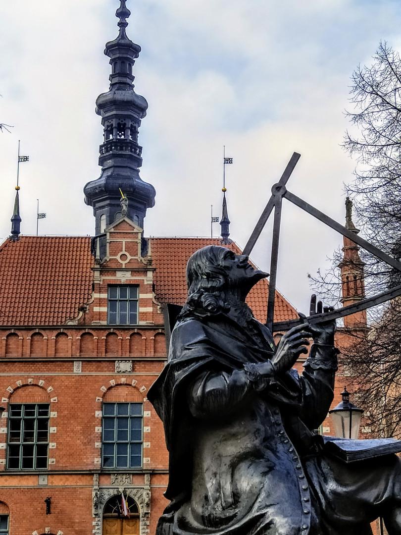 Johannes Hevelius Denkmal in der Alten Stadt Danzig