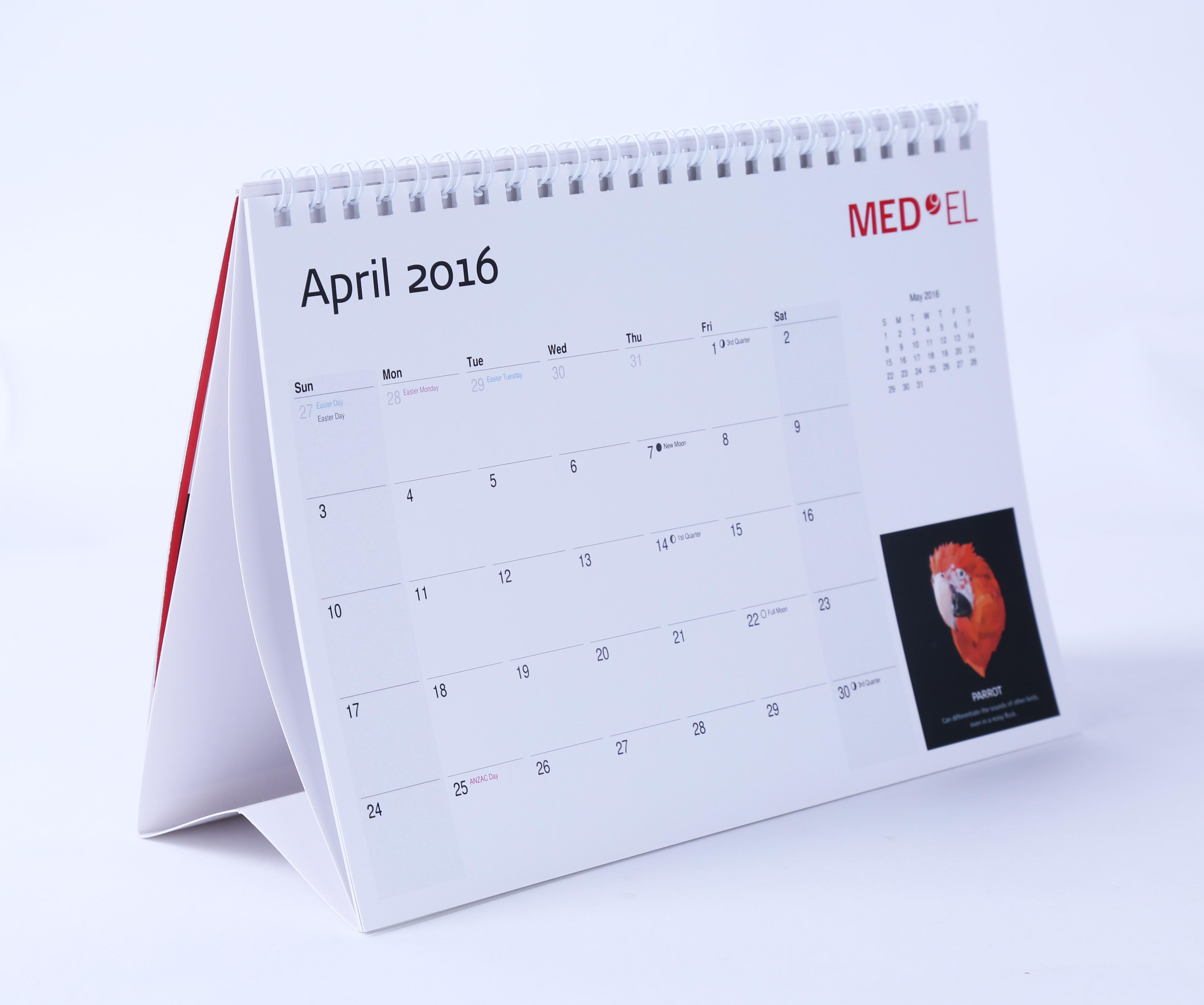 calendar, design, print, Sydney