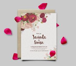 Wedding invitation, custom print
