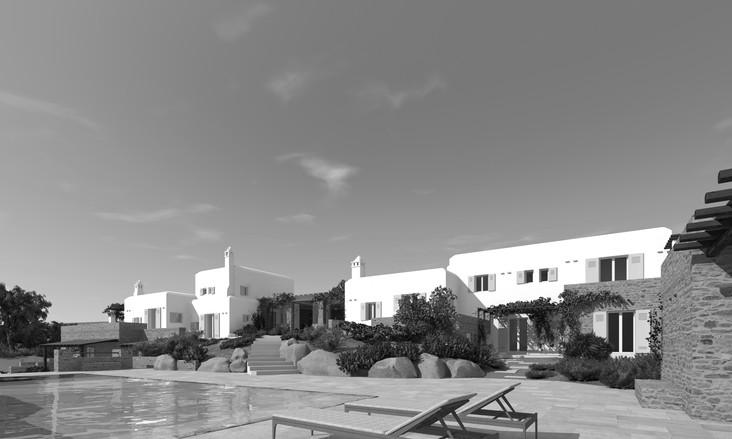 Rearrangement of a seafront residence in Mykonos, 2016