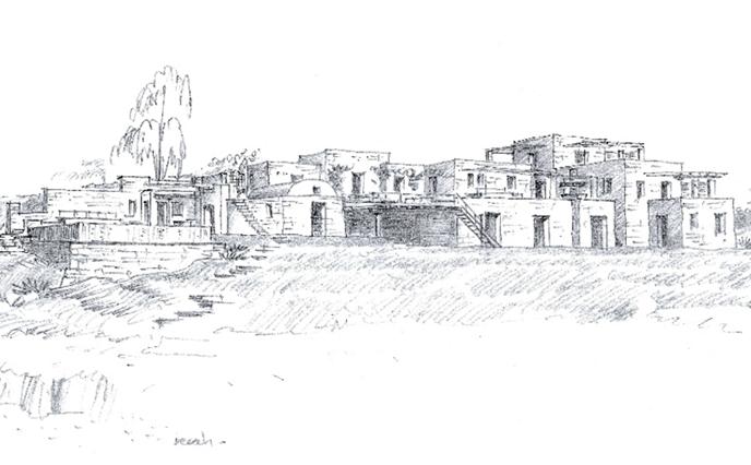 Rearrangement of beachfront residence in Mykonos, 2018