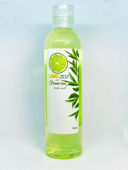 Lime Zest and Green Tea  Body Wash