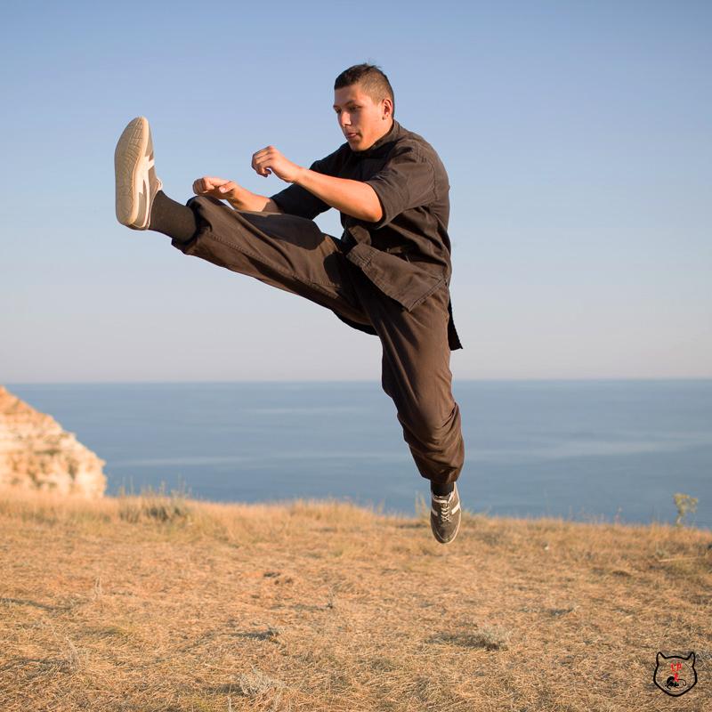 прыжковые удары в кунг-фу