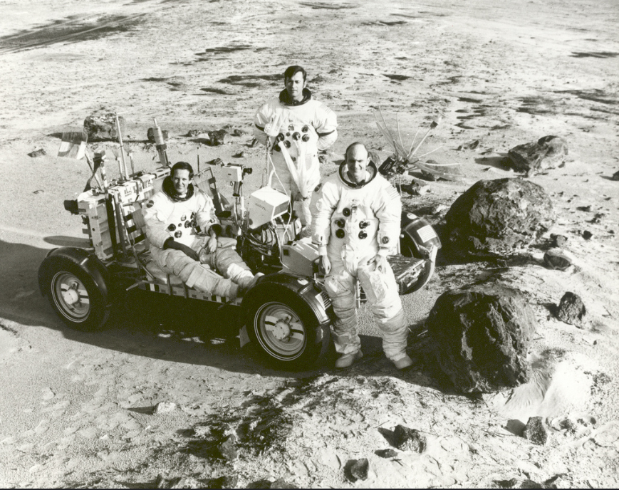Photo-shopped image of Apollo crew training at Cape Canaveral in Florida - Fake News