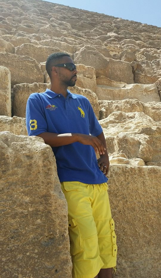Standing at the Great Pyramid of Giza
