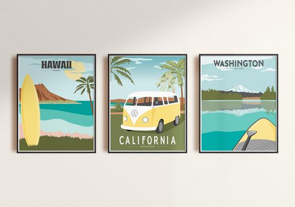 Destination Illustrations