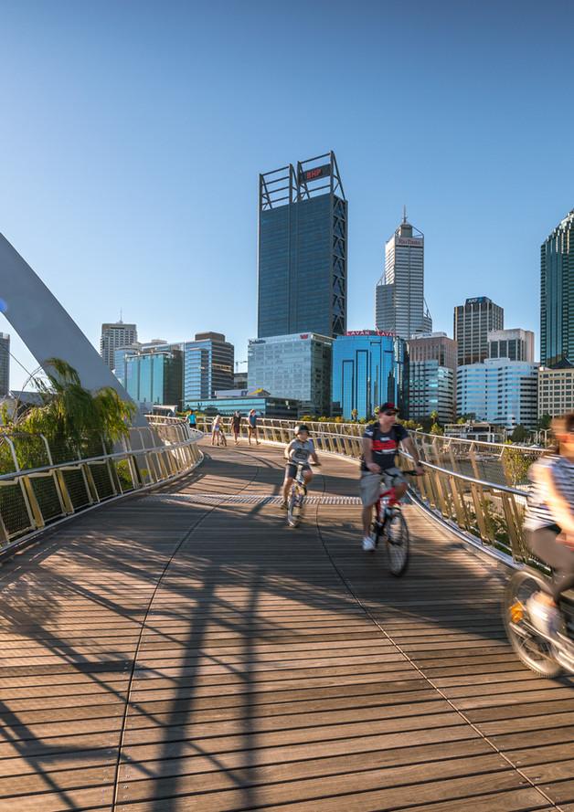 Perth Elizabeth Quay Bridge LifeStyle Photograph