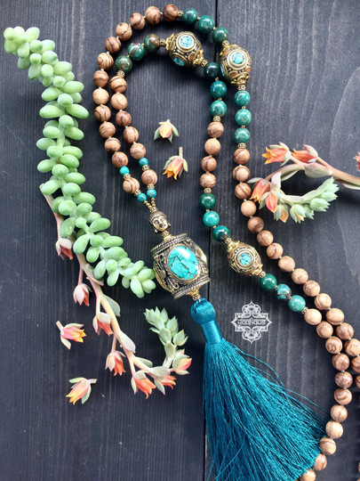 Turquoise Inlay with Tassel