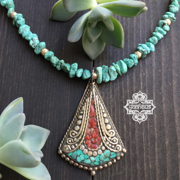 Coral & Turquoise Inlay