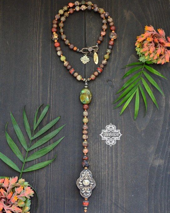Nepalese Repousse with Jasper