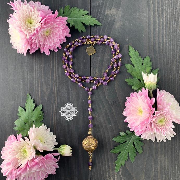 Amethyst Rosary Style