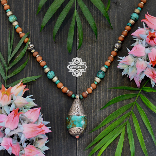Turquoise Drop with Sandalwood