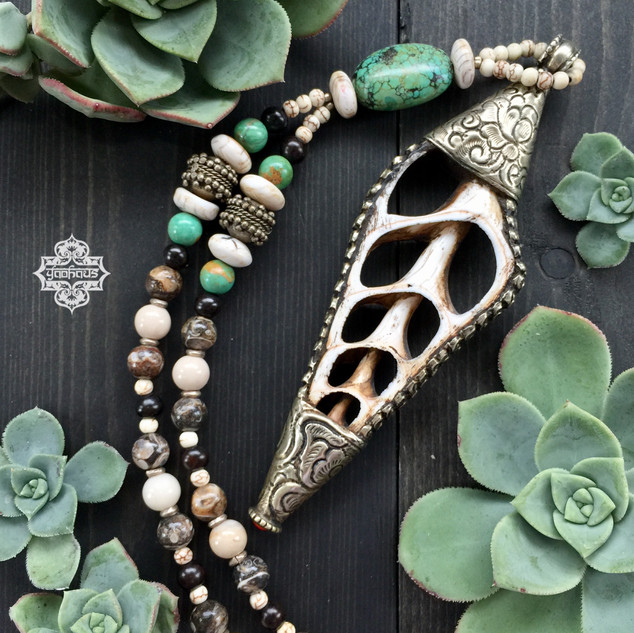 Nepalese Repousse' Conch Shell