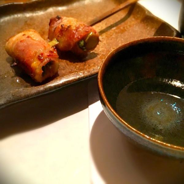 たらの芽味噌豚巻き