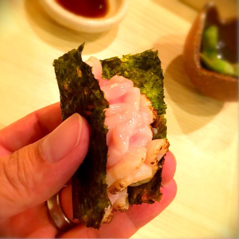タチ炙り韓国海苔包み