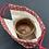 Thumbnail: トクエおばあちゃんの巾着 麻の葉【赤】
