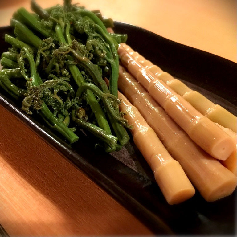 笹竹とゼンマイ