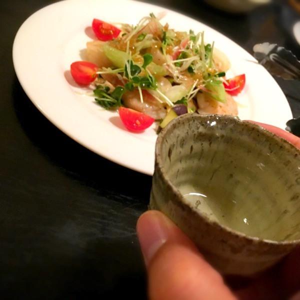 炙り帆立と水茄子のサラダ