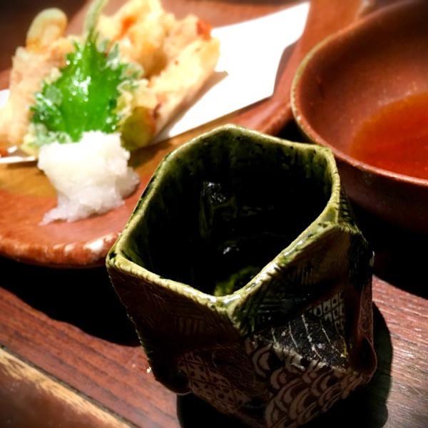 新生姜の豚巻き天ぷら