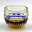 Thumbnail: Fukagawa Glass Crafts Otaru Kiriko Yoshiyuki-Ruri Amber-