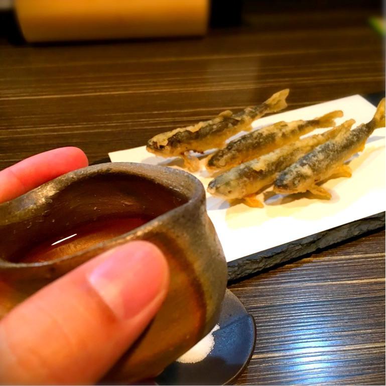 中村和樹 と 稚鮎の天ぷら