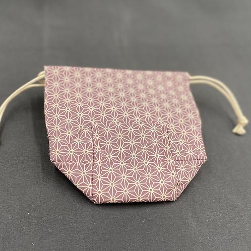 Grandma Tokue's purse Hemp leaf [Azuki]