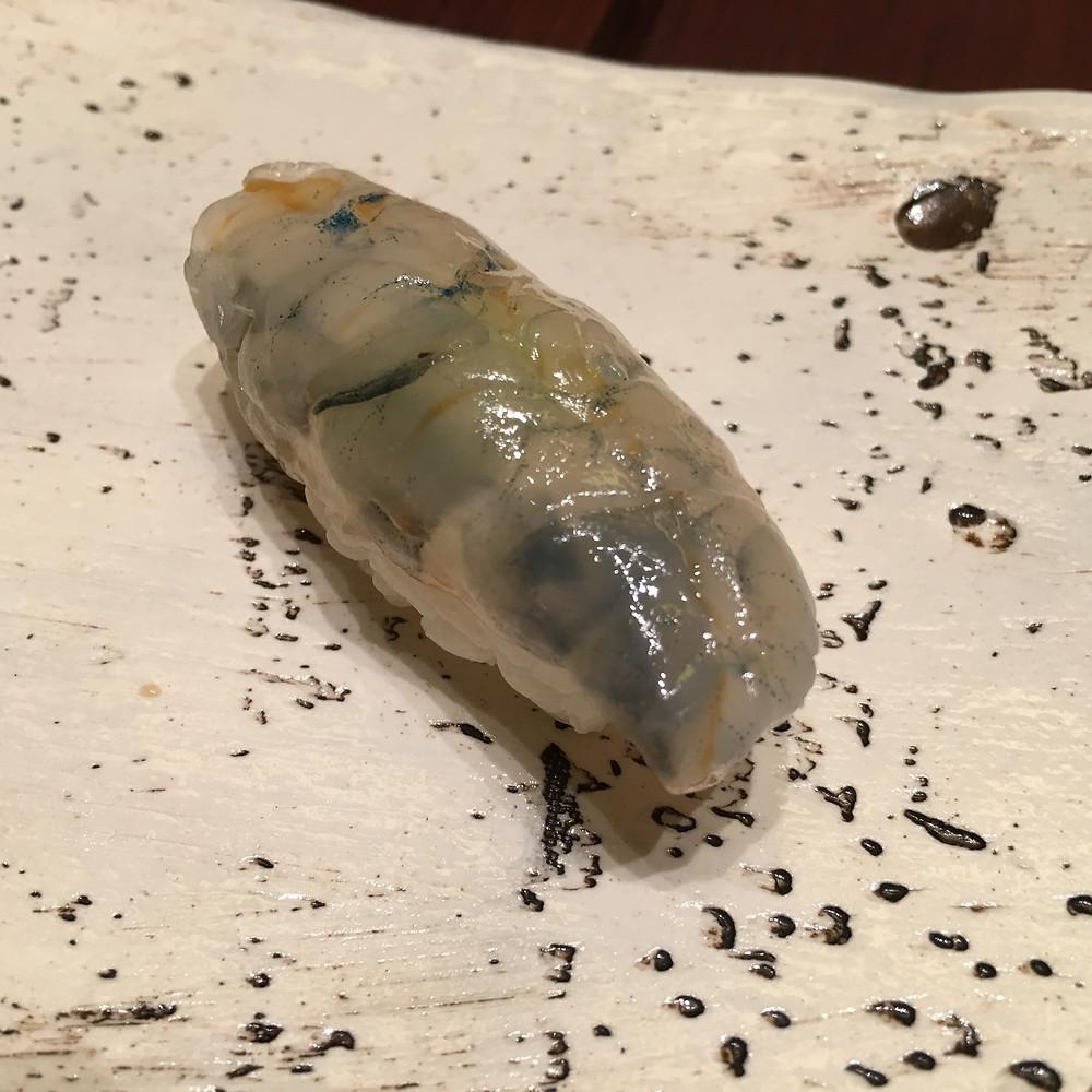 海老の昆布締め