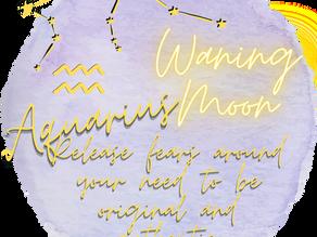 Waning Moon in Aquarius