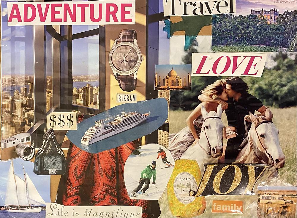 Adventure, Travel, Love, Joy, Family, Money, Cruise Ship, Chanel Bag