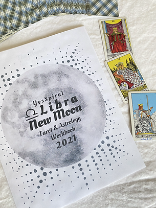 Libra New Moon Tarot and Astrology Workbook
