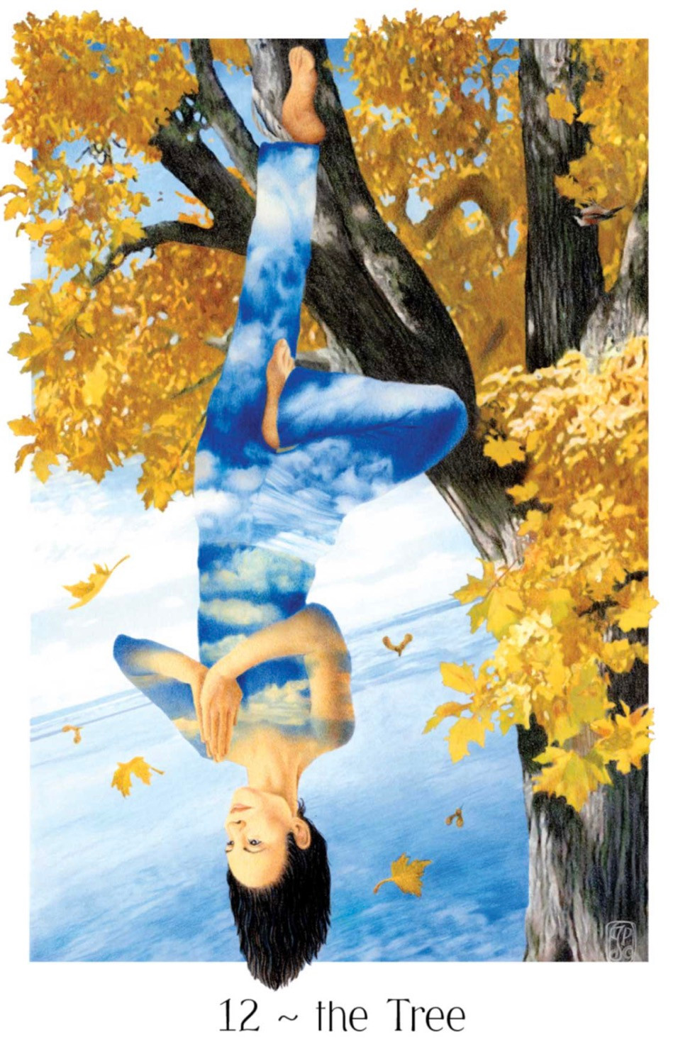 Gaian Tarot, The Hanged Man, The Tree, Tarot, Major Arcana