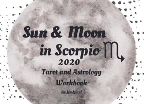 Scorpio Moonth Astrology and Tarot Workbook