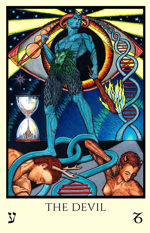 The Devil, Saturn, Tarot Card, Tabula Mundi