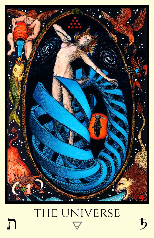 Tabula Mundi Tarot, The Universe, The World, Saturn