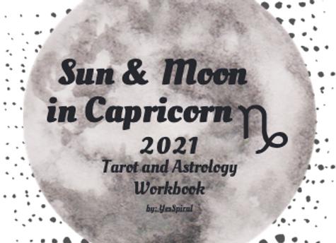 Capricorn Moonth Astrology and Tarot Workbook