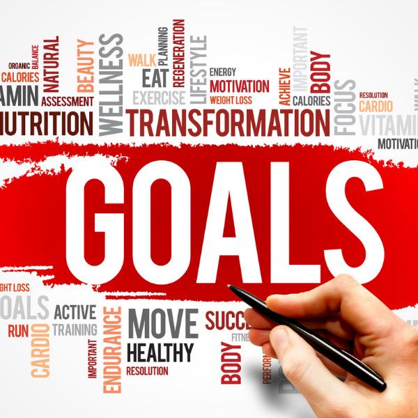 Goals world bubble, transformation, healthy, wellness, focus, active