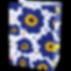 GB-E6-027-ถุงขนม_ถุงกิ๊ฟช็อป ลายบลูฟลาวเ