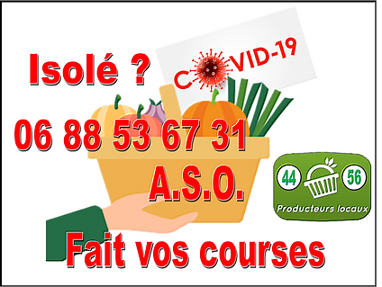 Bouton Covid courses