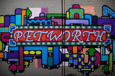 Petworth mural on Upshur Street NW