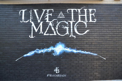 Mural for Fantastic Beasts movie, Rhode Island Avenue NW