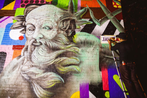Bacio Alley Mural  (Art All Night 2019)