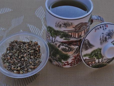 תה זרעי כמון, כוסברה ושומר לחיזוק מערכת העיכול