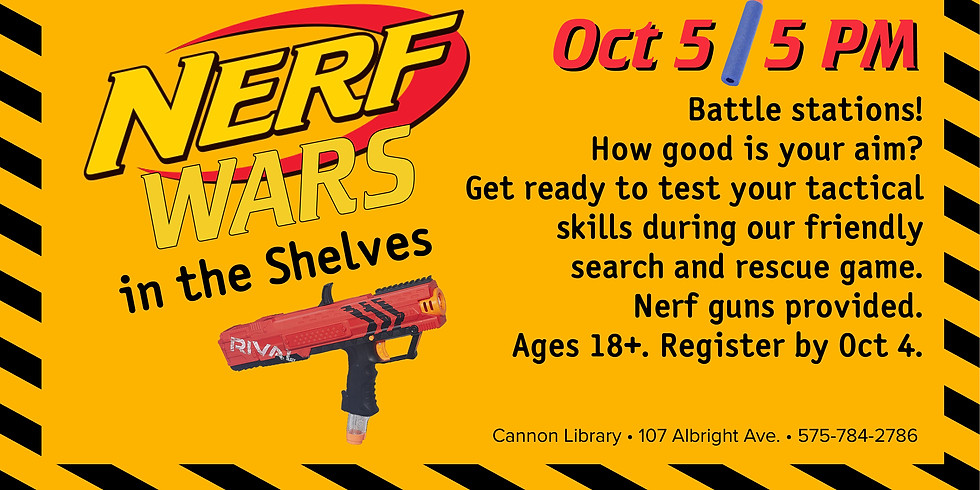Nerf Wars in the Shelves