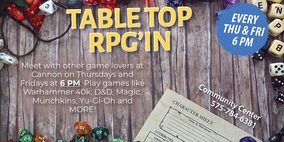Table Top RPG'In